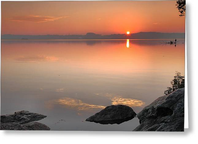 River Prints Greeting Cards - Potomac Sunrise Greeting Card by Steven Ainsworth