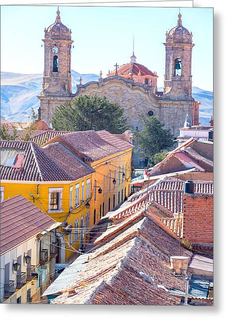 American Colonial Architecture Greeting Cards - Potosi Cathedral View Greeting Card by Jess Kraft