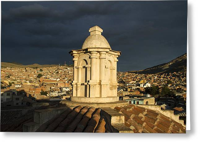Bolivia Guide Greeting Cards - Potosi Church Dome Greeting Card by For Ninety One Days