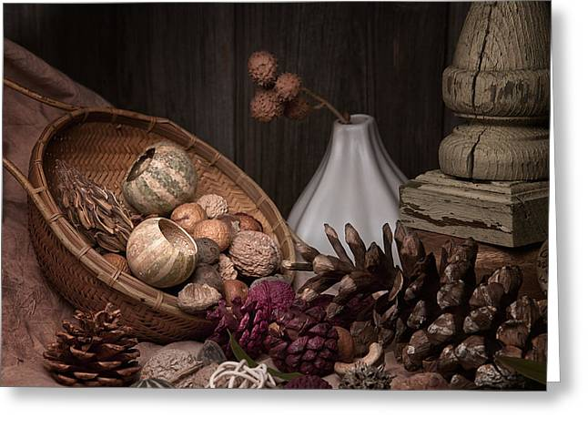 Earth Tone Photographs Greeting Cards - Potpourri Still Life Greeting Card by Tom Mc Nemar