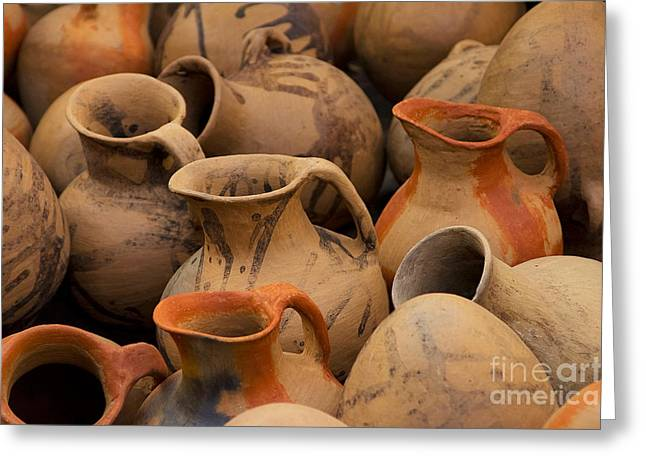 Pottery Pitcher Greeting Cards - Pots And Pitchers Greeting Card by Richard and Ellen Thane
