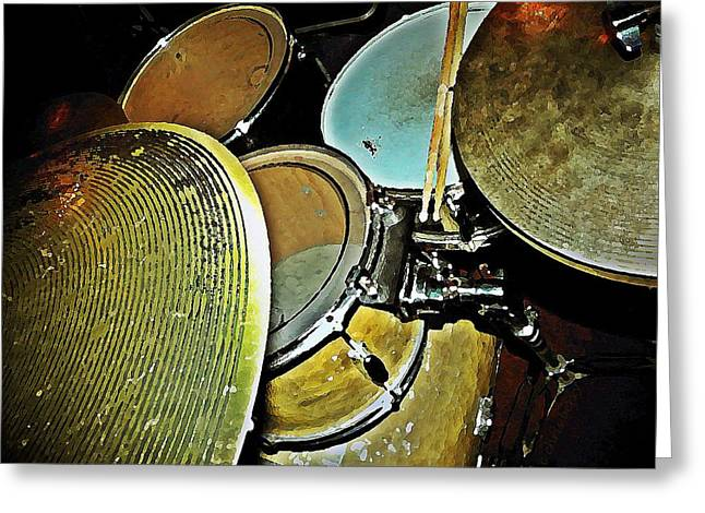Drum Kit Greeting Cards - Pots n Pans Greeting Card by Chris Berry