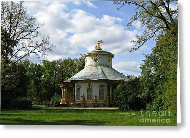 Green Day Greeting Cards - Potsdam The Chinese House Greeting Card by Kiril Stanchev