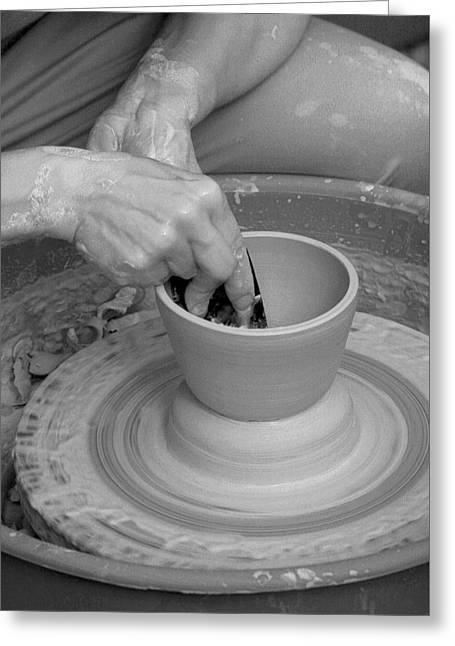 Potter And Clay Greeting Cards - Potter Greeting Card by John Cardamone
