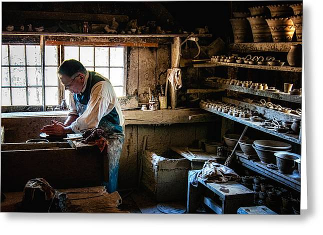 Sturbridge Village Greeting Cards - Potters Shed Greeting Card by Scott Thorp