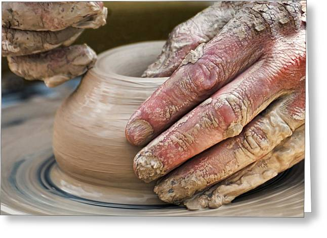 Pottery Wheel Greeting Cards - Potters Wheel Greeting Card by Diana Angstadt