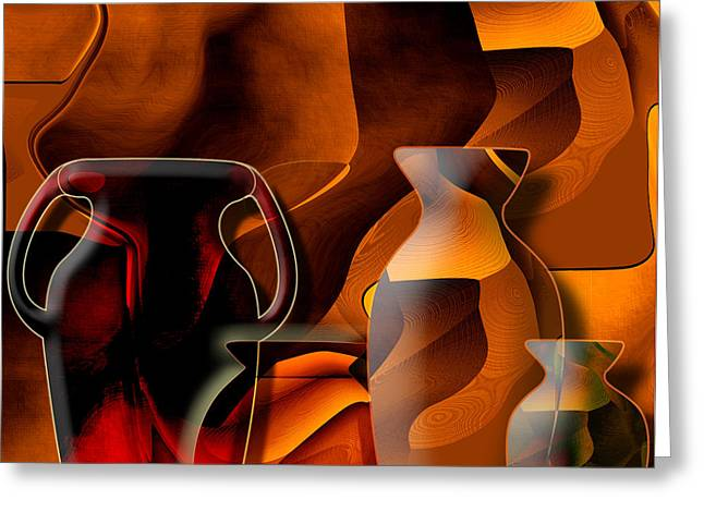 Hot Color Greeting Cards - Pottery and vase 1 Greeting Card by Christian Simonian