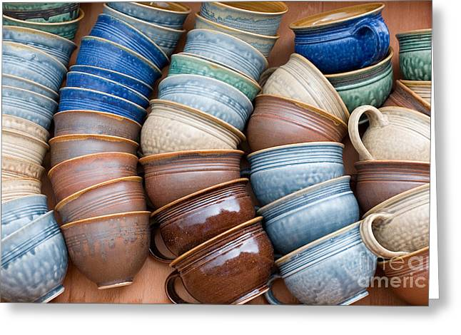 Pottery Cups Greeting Card by Matthias Lenke