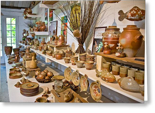 Pottery in La Borne Greeting Card by Oleg Koryagin