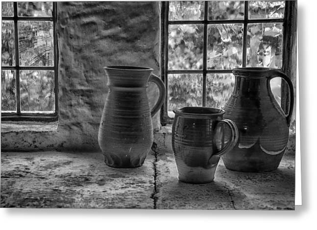 Old Pitcher Greeting Cards - Pottery Greeting Card by Inge Riis McDonald