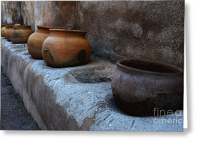 Historical Buildings Greeting Cards - Pottery Mission San Jose De Tumacacori 2 Greeting Card by Bob Christopher