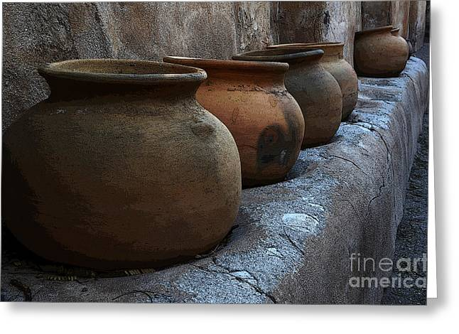 Historical Buildings Greeting Cards - Pottery Mission San Jose De Tumacacori Greeting Card by Bob Christopher