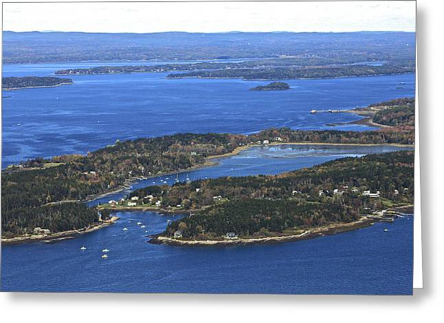 Harpswell Greeting Cards - Potts Harbor, South Harpswell Greeting Card by Dave Cleaveland