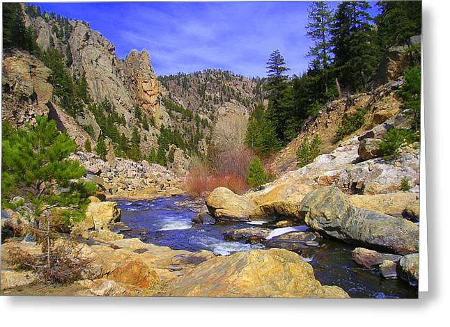 Poudre Canyon Greeting Card by Bob Beardsley
