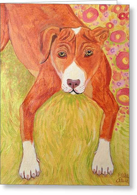Pound Puppies Greeting Cards - Pound Puppy Greeting Card by Elle Alves