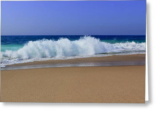 Ocean Art Photos Greeting Cards - Pounding Surf Greeting Card by Heidi Smith