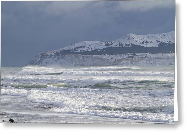 Conditions Greeting Cards - Pounding Waves Greeting Card by Tim Grams