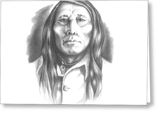 Poundmaker Greeting Card by Lee Updike