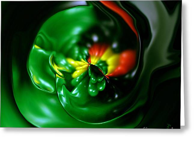 Surreal Digital Image Greeting Cards - Pouring Out Greeting Card by Cheryl Young