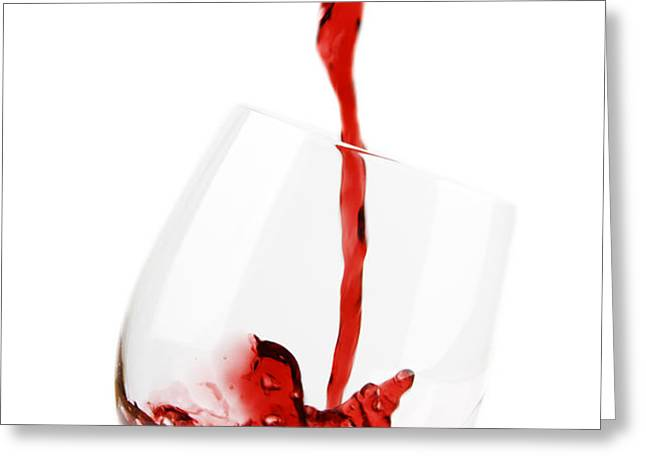 Pouring Red Wine Greeting Card by Chevy Fleet