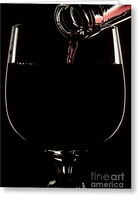 Photography Of Wine Bottles Greeting Cards - Pouring Wine Greeting Card by Cyril Furlan