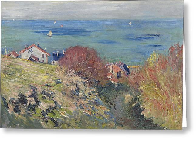 Pourville Greeting Cards - Pourville Greeting Card by Claude Monet