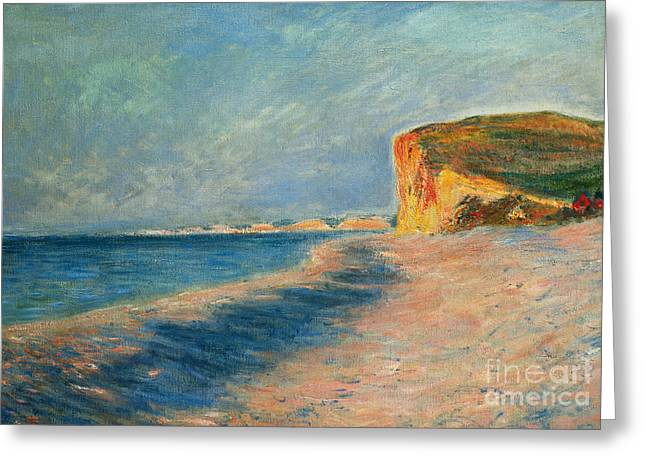 Sandy Beaches Greeting Cards - Pourville Near Dieppe Greeting Card by Claude Monet