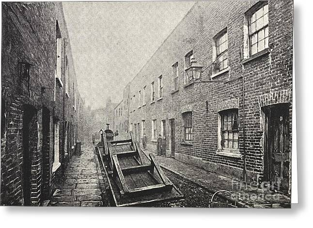 Sociology Photographs Greeting Cards - Poverty In London, 1890s Greeting Card by British Library