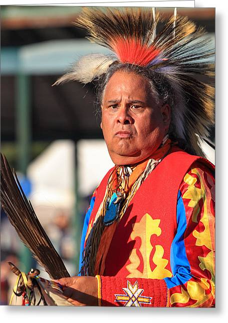 The First Family Photographs Greeting Cards - Pow Wow 32 Greeting Card by Keith R Crowley