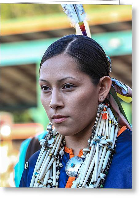 The First Family Photographs Greeting Cards - Pow Wow 35 Greeting Card by Keith R Crowley