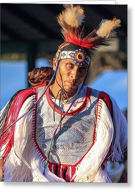The First Family Photographs Greeting Cards - Pow Wow 46 Greeting Card by Keith R Crowley