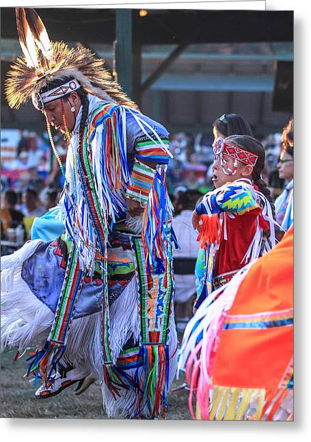 The First Family Photographs Greeting Cards - Pow Wow 52 Greeting Card by Keith R Crowley