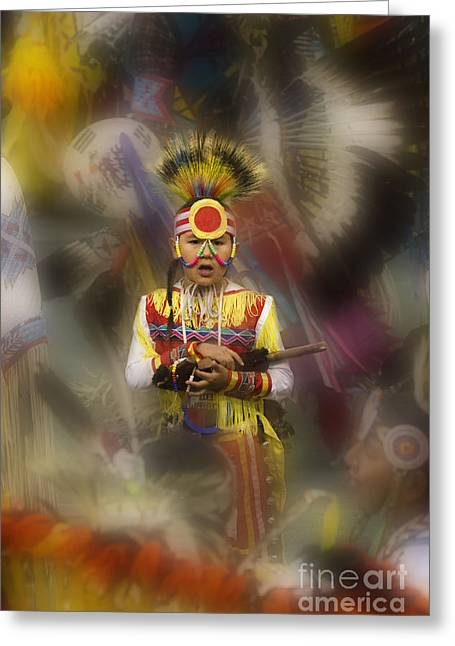 First Tribes Greeting Cards - Pow Wow Among The Elders Greeting Card by Bob Christopher