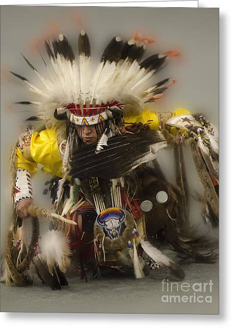 Fancy-dancer Greeting Cards - Pow Wow Days Of Thunder   Greeting Card by Bob Christopher