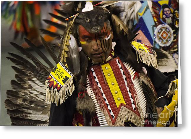 Fancy-dancer Greeting Cards - Pow Wow First Nations 1 Greeting Card by Bob Christopher