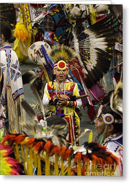 Pow Wow First Nations 11 Greeting Card by Bob Christopher