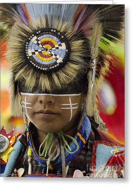 Fancy-dancer Greeting Cards - Pow Wow First Nations 12 Greeting Card by Bob Christopher