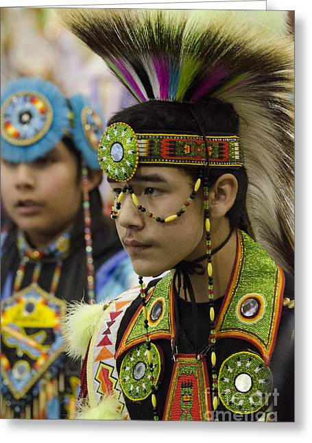 Fancy-dancer Greeting Cards - Pow Wow First Nations 18 Greeting Card by Bob Christopher