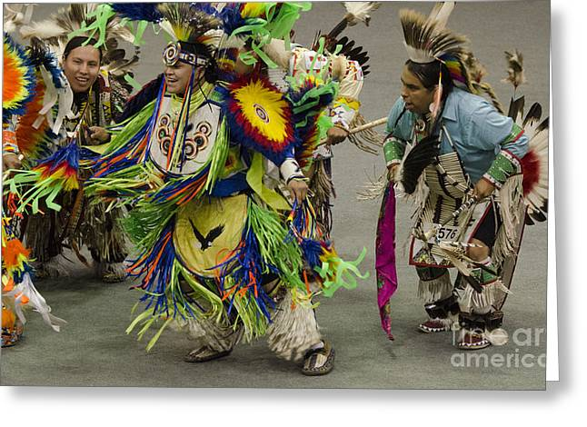 Fancy-dancer Greeting Cards - Pow Wow First Nations 19 Greeting Card by Bob Christopher