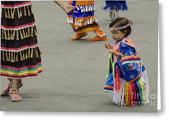 Fancy-dancer Greeting Cards - Pow Wow First Nations 7 Greeting Card by Bob Christopher