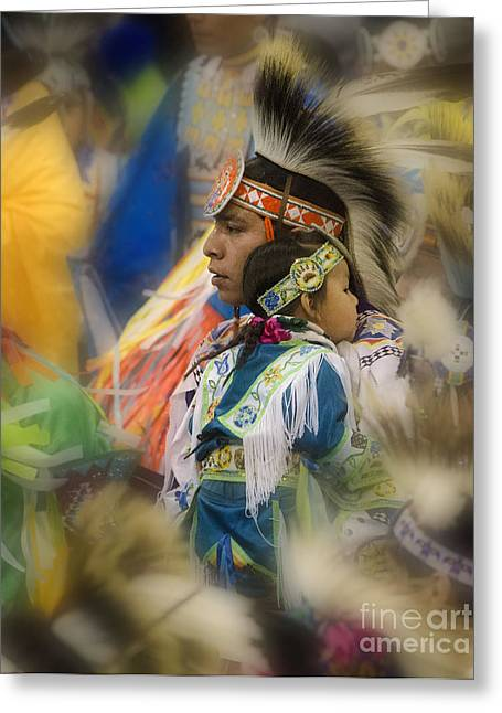 First Tribes Greeting Cards - Pow Wow Traditional Ways Of  Learning Greeting Card by Bob Christopher