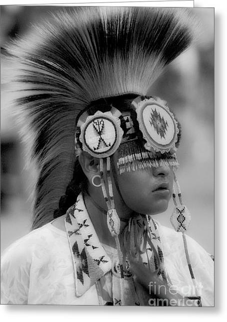Fancy-dancer Greeting Cards - Pow Wow Youthful Pride Greeting Card by Bob Christopher