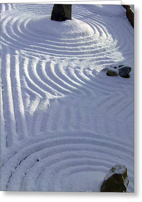 Incarnation Greeting Cards - Powder In ZEN Two Greeting Card by Feile Case