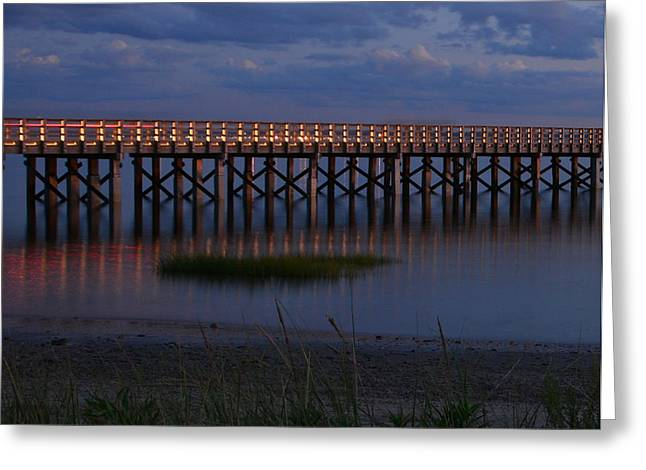 Duxbury Greeting Cards - Powder Point Bridge Duxbury MA Greeting Card by Kathy Kenney