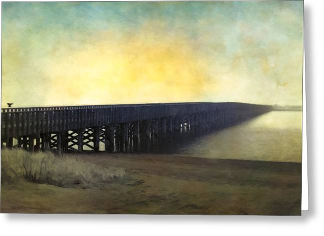Duxbury Greeting Cards - Powder Point Bridge Greeting Card by Edmund Prescottano
