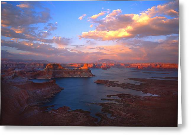 Glen Canyon National Recreation Area Greeting Cards - Powell Perfect Greeting Card by Ray Mathis