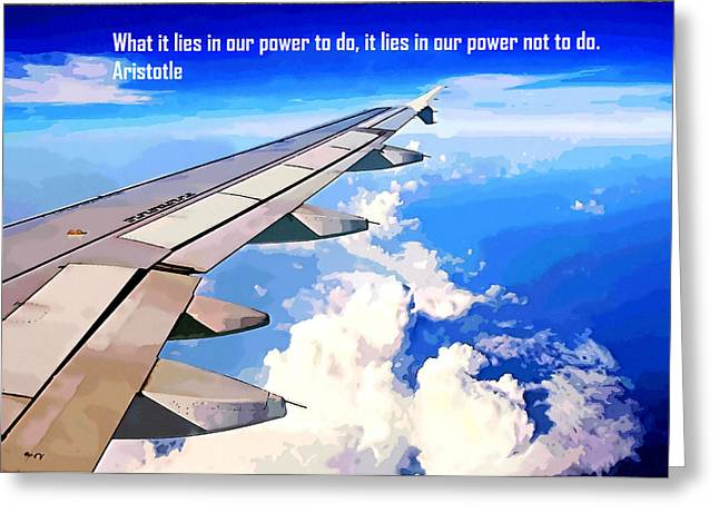 Jet Star Paintings Greeting Cards - Power 2 Greeting Card by Lanjee Chee