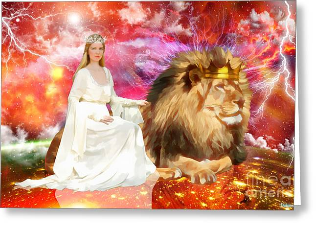 King Of Judah Greeting Cards - Power and Authority  Greeting Card by Dolores Develde