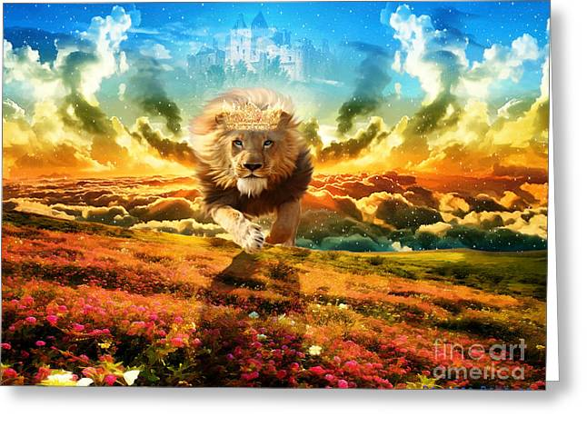 Holy Digital Greeting Cards - Power and Glory Greeting Card by Dolores Develde