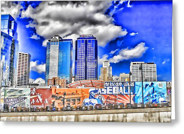Negro Leagues Digital Greeting Cards - Power And Light District South WOWC Greeting Card by Kevin Anderson